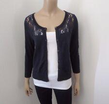 NWT Hollister Lace Cardigan Size Medium Sweater Navy Blue 3/4 Sleeve