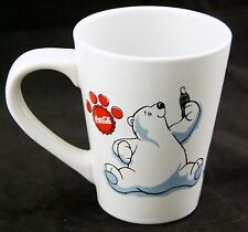 Coca-Cola Polar Bear Mug Paw Print Gibson Cup Mug White Coffee Tea NEW
