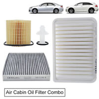 Air Filter 17801-0H050, Cabin, Oil Filter For Toyota Camry 11-16 2.5L I4 Engine