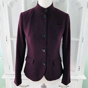 Banana Republic Sz 2 Blazer Jacket Plum Purple Career Work Woman