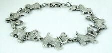 7 inch Cute Westie Dog Bracelet antique silver plated 18 cm