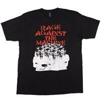 Rage Against The Machine T-Shirt Skeleton Heads Black 2014 Graphic Tee Men's XL