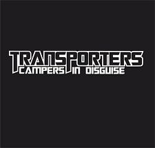 TRANSPORTERS CAMPERS IN DISGUISE Vinyl Decal Sticker EURO JDB DUB VW T5 T4 T3 T2