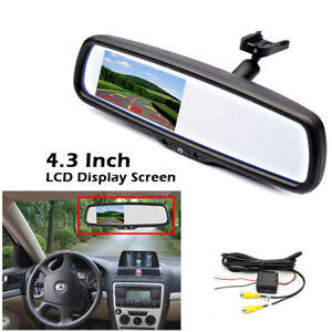 "12V Car Interior Replace Rear View Mirror Built in 4.3"" HD TFT LCD Monitor Kit"