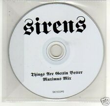 (A294) Sirens, Things Are Getting Better - DJ CD