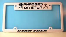 STAR TREK LICENSE PLATE FRAME -    PHASERS ON STUN !!!