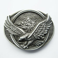 Classic Vintage Eagle In Flighting Western Oval Belt Buckle also Stock in US