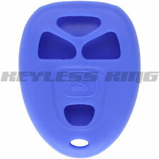 New BLUE Keyless Remote Entry Key Fob Clicker Case Skin Jacket Cover Protector