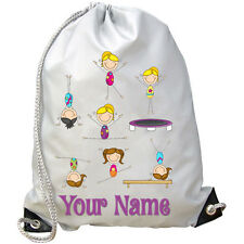 Girl'S Gymnastics Personalised Gym / Pe / Dance / Swimming Bag *Named Gift*