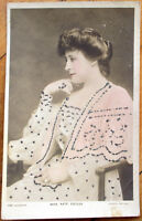 1908 Realphoto Theatre/Stage Actress Postcard: Kate Cutler w/Glitter Applied