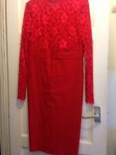 City Goddess Red bodycon dress size 14