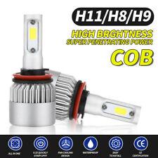 2x H11 H8 H9 Auto Coche LED Lámpara Conducción Bombillas De Faros Niebla DRL 6500K Blanco
