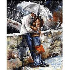 DIY Art Paint By Number Digital Oil Painting Kit Canvas Romantic lovers 30*40cm