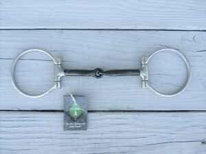 Turn-Two Stainless Steel Concho Snaffle D-Ring Bit