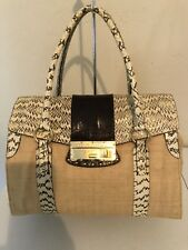 Dolce & Gabbana Bag/Tote . Raffia, Python And Leather