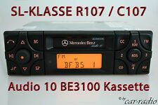ORIGINALE Mercedes Cassetta Autoradio Audio 10 be3100 SL-classe r107 Becker Radio
