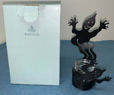 Partylite Halloween Black Votive Tealight Ghost Shadow Dancers Candle Holder