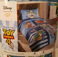 Toy Story 4 Disney Pixar Jumping Beans Reversible Comforter Twin NEW