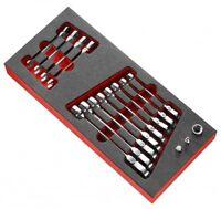 FACOM Knarren-Ring-Gabel-Schlüssel-Set mit Gelenk + Steckschlüssel MODM.467BFJ12
