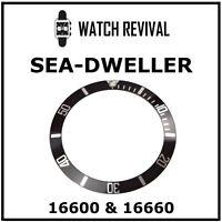 BLACK BEZEL INSERT FOR ROLEX SEA-DWELLER 16600, 16660 315-16660-81 SNAP FIT