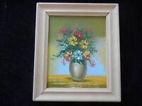 Ölbild mit Holzrahmen, handgemalt, Blumenstrauß in Vase (meine Pos-Nr. 15)