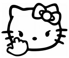 Hello Kitty Finger ,Vinyl Decal,Sticker for Cars,Windows,Laptops and more