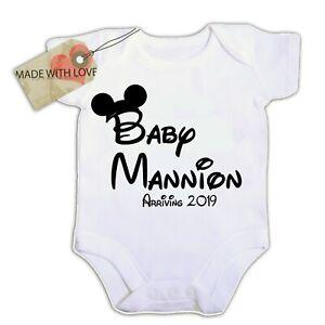 Personalised  Pregnancy Announcement Baby Shower Gift  bib vest