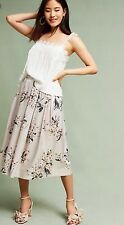 NWT in Bag Anthropologie exclusive $138.00 Della Bee Champagne skirt size L