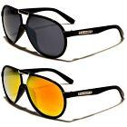 Biohazard Lightweight Metal Strips Bridge Aviator Sunglasses for Men and Women