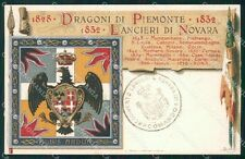 Militari V Reggimento Lancieri di Novara Dragoni Piemonte cartolina XF2115