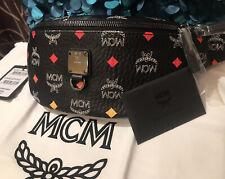 Authentic MCM Belt Bag Clutch Pouch Spectrum Diamond Black Limited Edition NWT