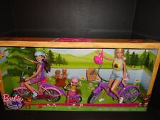 BARBIE CAMPING FUN DOLL SET WITH BIKES & ACCESSORIES   NEW