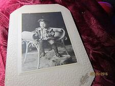 Russian Little Boy in uniform Photo Picture Antique Black & White Washburn Minn