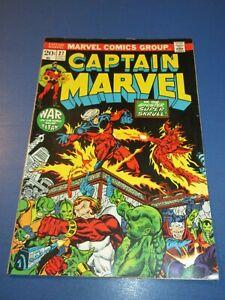 Captain Marvel #27 Bronze age Jim Starlin Thanos Starfox FVF Beauty