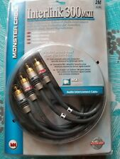 Monster Cable InterLink 300MK II RCA audio interconnect pair 2 meter