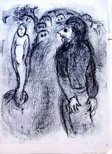 Marc Chagall offset lithograph Bible  paris maeght 1960 original  2 sided 103
