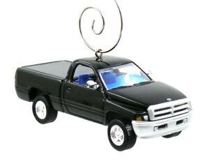 1996 Dodge Ram Black Pickup Truck Christmas Ornament