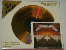 Metallica Master Of Puppets DCC 24K Gold CD 1999 New Sealed Very Rare 24 Karat!!