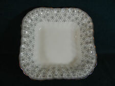 "Spode Fleur de Lis Lys Gray Bone China Square 9"" Serving Bowl"