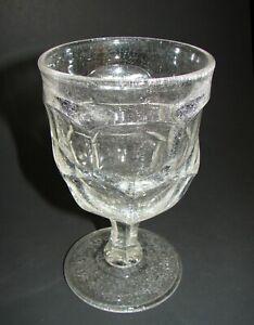 New England Boston & Sandwich Glass Ashburton Goblet advertised P.F. Ferrican NY