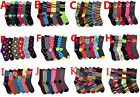 6, 12 Pairs Women Mamia Multi color Fancy Crew Fashion Design Socks Size 9-11