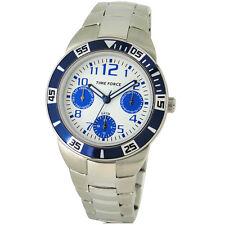 TIME FORCE TF-4120B02M  RELOJ CADETE MULTIFUNCION ACERO 50M