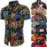 Mens Sleeve Short Shirt Floral Fashion Tee Summer Dress Tops Shirts Casual Men's