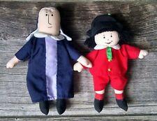 "Madeline Dolls Pepito & Ms. Clavel Vintage Cloth Fabric Dolls 6"""