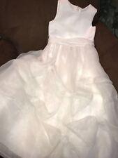 COMMUNION DRESS WHITE SIZE 6 SATIN/ROSES/ORGANZA WOW!!