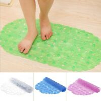 Non Slip Bath Shower Mat PVC Anti Slip Pad Bathtub Pebble Large Strong Suction