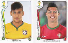 Panini 2014 World Cup Brazil # 523 Ronaldo &  48 Neymar