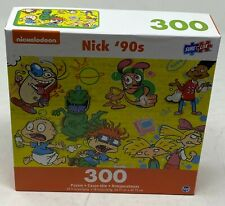 300-Piece Nickelodeon 90's Retro Collection Jigsaw Puzzle NEW Street Art