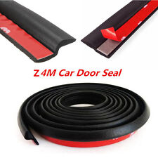 Black 4M Z-shape Car Door Window Rubber Seal Strip Pad Weatherstrip Seals Hollow