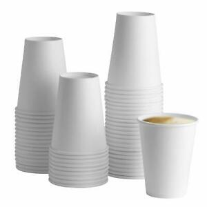 4/8/12/16/oz Paper Cups Disposable White Cups For Hot And Cold Drinks With Lids